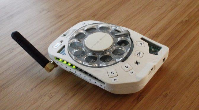 ダイヤル式携帯電話