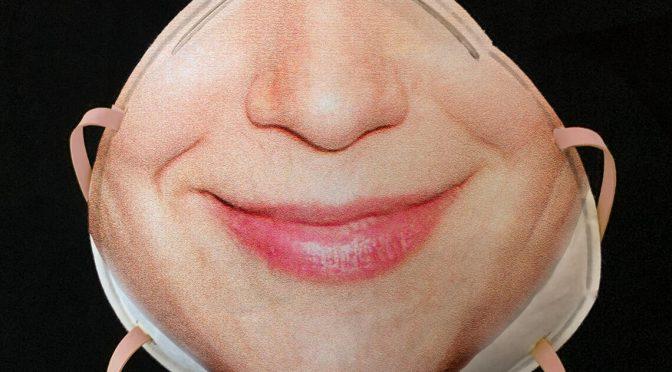 マスクで顔認証できるFace ID対応医療マスク