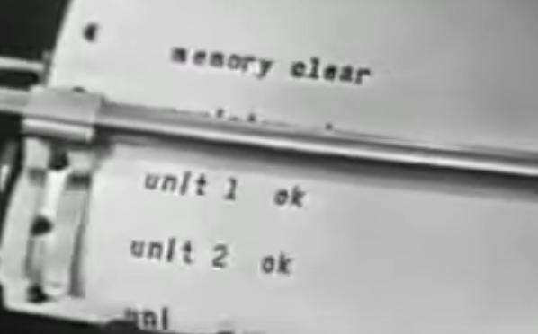 1956年のコンピューターのコマーシャルフィルム