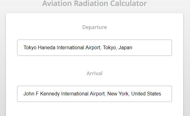Icaro – 飛行機旅行での放射線被爆量を計算してくれるサービス